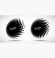 halftone circle perspective frame abstract dots vector image