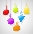 hanging number notes vector image vector image