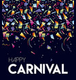 happy carnival party event poster design template vector image vector image