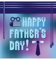Happy Fathers Day message with open blinds vector image