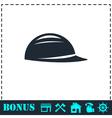 Helmet icon flat vector image