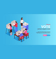 how to vote banner vector image vector image