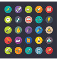 industrial and construction flat icons pack vector image vector image