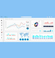 informative and simple dashboard vector image vector image