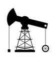 isolated oil rig icon vector image vector image
