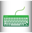 Keyboard simple icon vector image vector image
