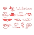 lettering day happy valentine for card set vector image vector image