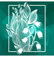 Lilies of the valley flower with simple frame vector image vector image