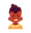 Little boy face angry facial expression vector image vector image