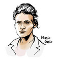 marie curie vector image