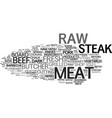 meat word cloud concept vector image vector image