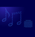 notes music from futuristic polygonal blue lines vector image vector image