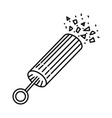petard party icon doodle hand drawn or outline vector image