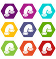 pipe icons set 9 vector image vector image