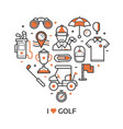 play golf print with golf icons vector image vector image