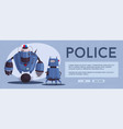 police drone robot vector image vector image