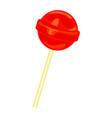 red lollipop icon cartoon style vector image vector image