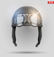 retro aviator helmet with goggles vector image vector image