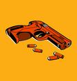 Retro gun vector image