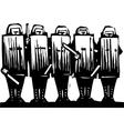 Riot Police vector image vector image