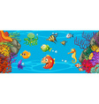 Scene with many fish underwater vector image vector image