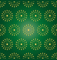 seamless pattern in gold color on a dark green vector image vector image