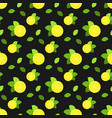 seamless pattern with citrus fruits lemon vector image vector image