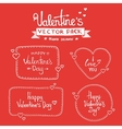 Set Of Happy Valentines Day Hand Lettering vector image vector image