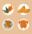 set of thanksgiving food vector image