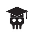 skeleton skull academy logo vector image vector image