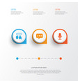 social icons set collection of message vector image vector image