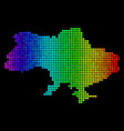 spectrum dotted ukraine map with crimea vector image vector image