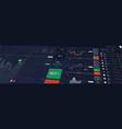 stock market or forex trading platform vector image vector image