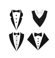 suit icon isolated on a white background vector image vector image