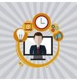 technology design computer icon gadget concept vector image vector image