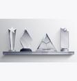 trophies shelf concept vector image
