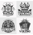 viking design emblem set vector image