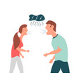violence in family the guy and the girl shout at vector image vector image