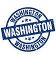 washington blue round grunge stamp vector image