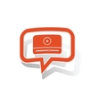 Watching message sticker orange vector image vector image