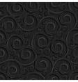seamless black floral wallpaper pattern vector image