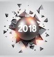 abstract 2018 new year background vector image