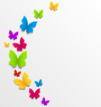 Abstract spring background with rainbow vector image vector image