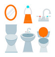 bath equipment icon toilet bowl bathroom clean vector image vector image