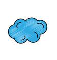 beautiful line cartoon cloud vector image vector image