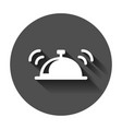 bell icon in flat style alarm bell with long vector image