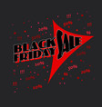 black friday advert with red arrow on dark vector image