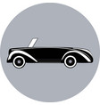 black icon of cabriolet vector image