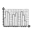 cartoon image of graph icon chart bar symbol vector image