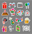 celebrations and event stickers vector image vector image